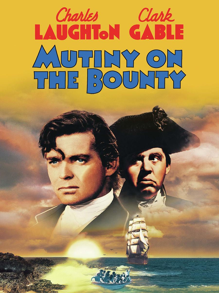 Mutiny on the Bounty was a 1935 film adaptation of Charles Nordhoff and James Norman Hall's 1932 novel of the same name. It starred Charles Laughton and Clark Gable, and became the highest-grossing film of 1935.
