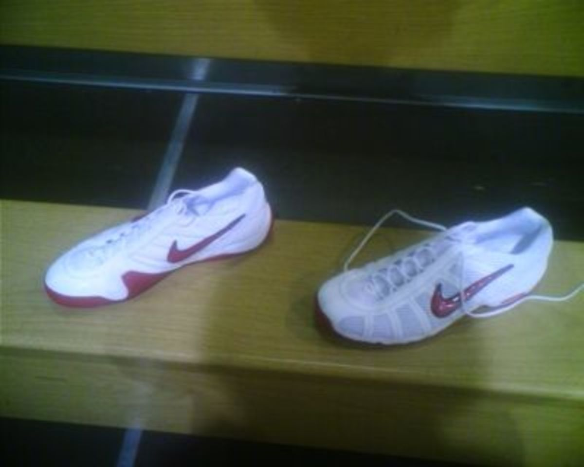 Nike Fencing Shoes - Red/White color combo.