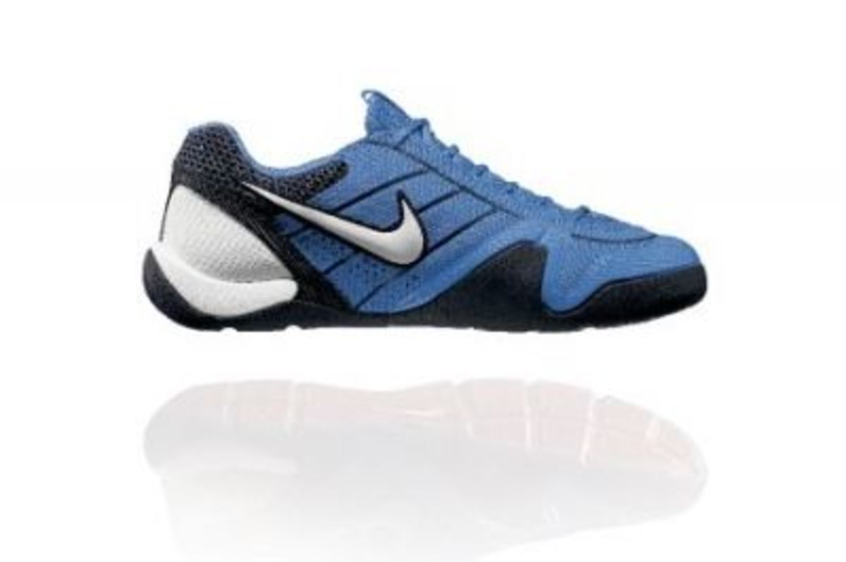 Nike Ballestra - The US Olympic Fencing Team's color scheme