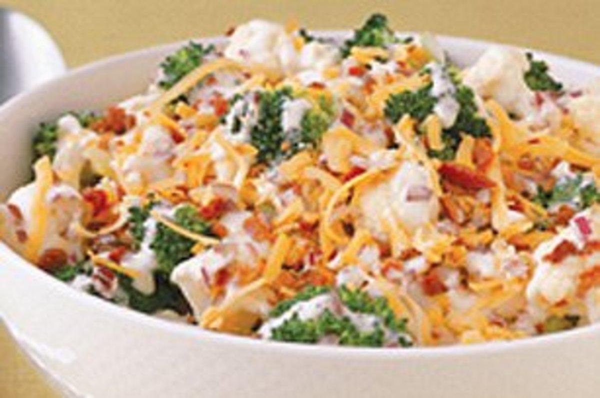 Easy Broccoli Cauliflower Salad