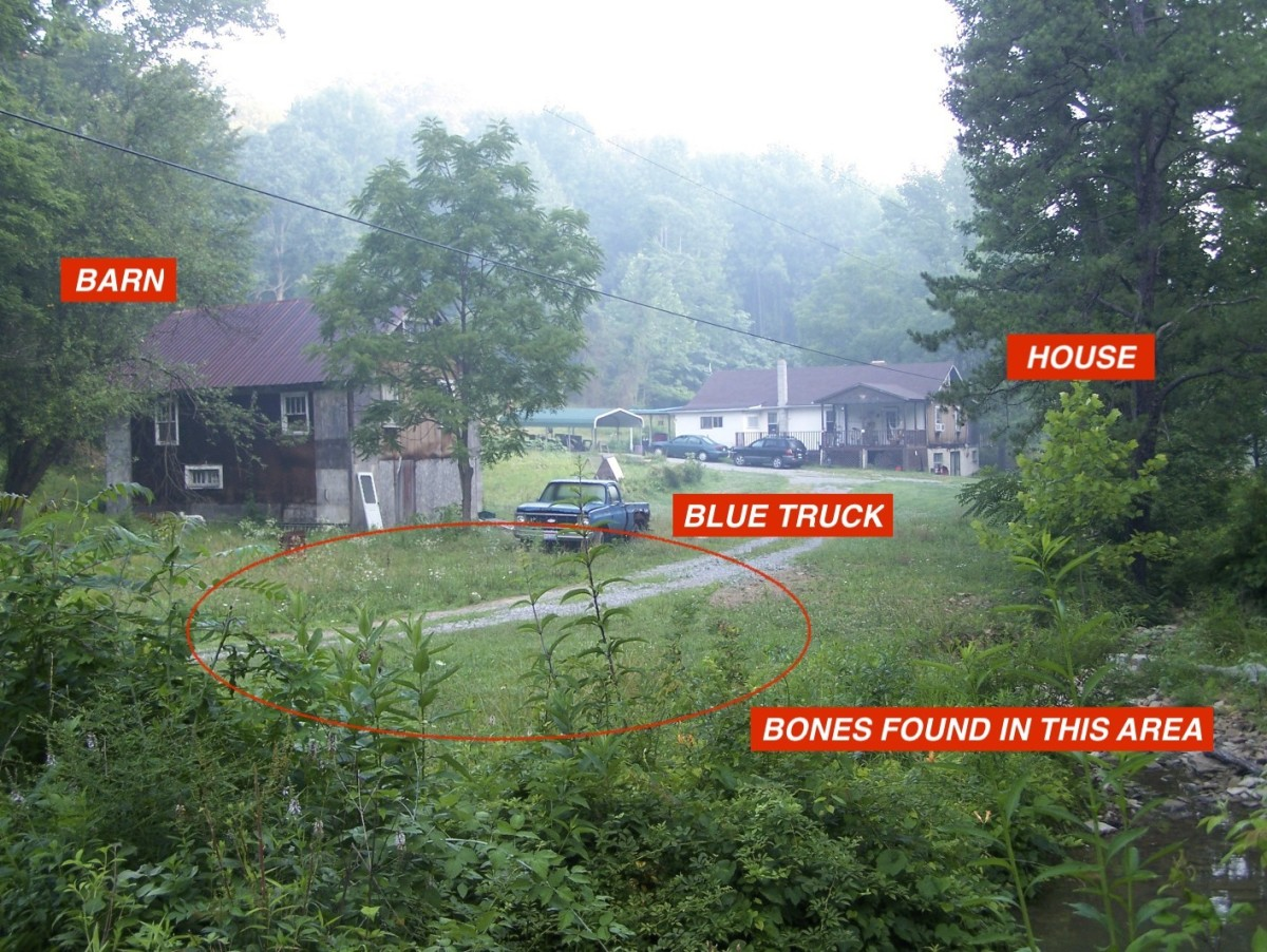 What the farm would have looked like at the time of Nichole's murder.  Please note all buildings were demolished in 2018.