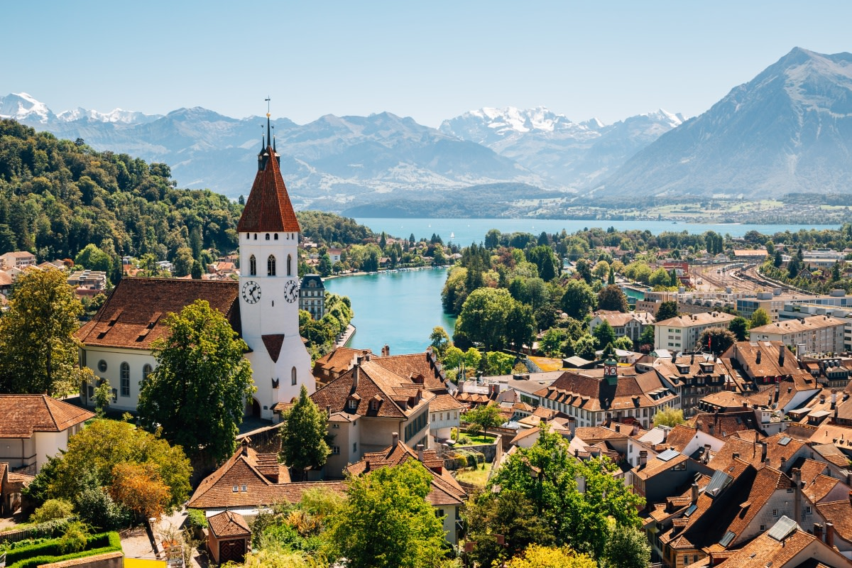 Bern is a walker's paradise, replete with limestone arcades, cobblestone streets, and towering copper church spires.