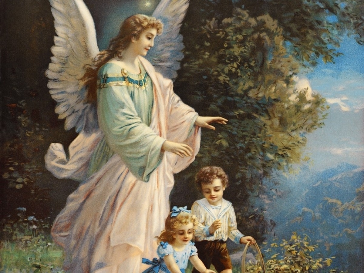 Guardian angels are intrusted to help all living beings. They say that everyone of us as a guardian angel that will look after us. Sometimes we may feel their presence, when we are about to do things that are wrong and we suddenly stop doing it.
