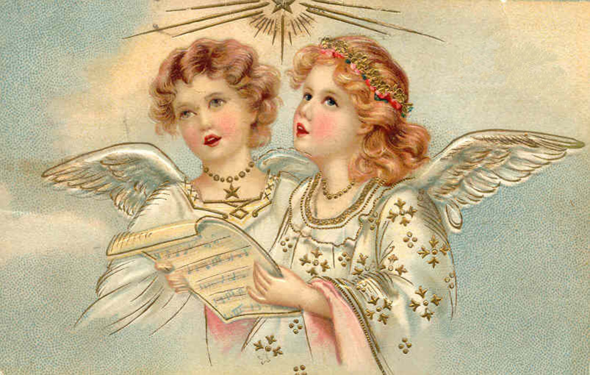This is the beginning of angels poem of these religious writings.  You, angels of the realm of glory, you tell us about the eternal story, you tell us about the creator's glory, you tell us the wonders of God's creation.