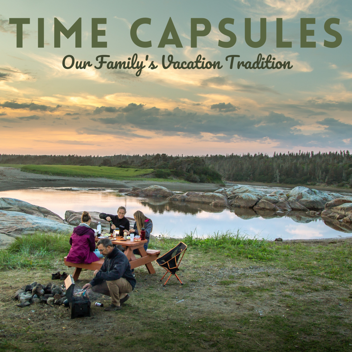 Every year, our family vacations in the same spot. We play this time capsule game every summer!