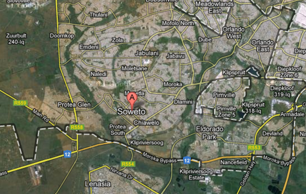 Soweto On Google Map - The Reader of this Hub can go to Google Map and Zoom into the street and walk anywhere throughout the Township