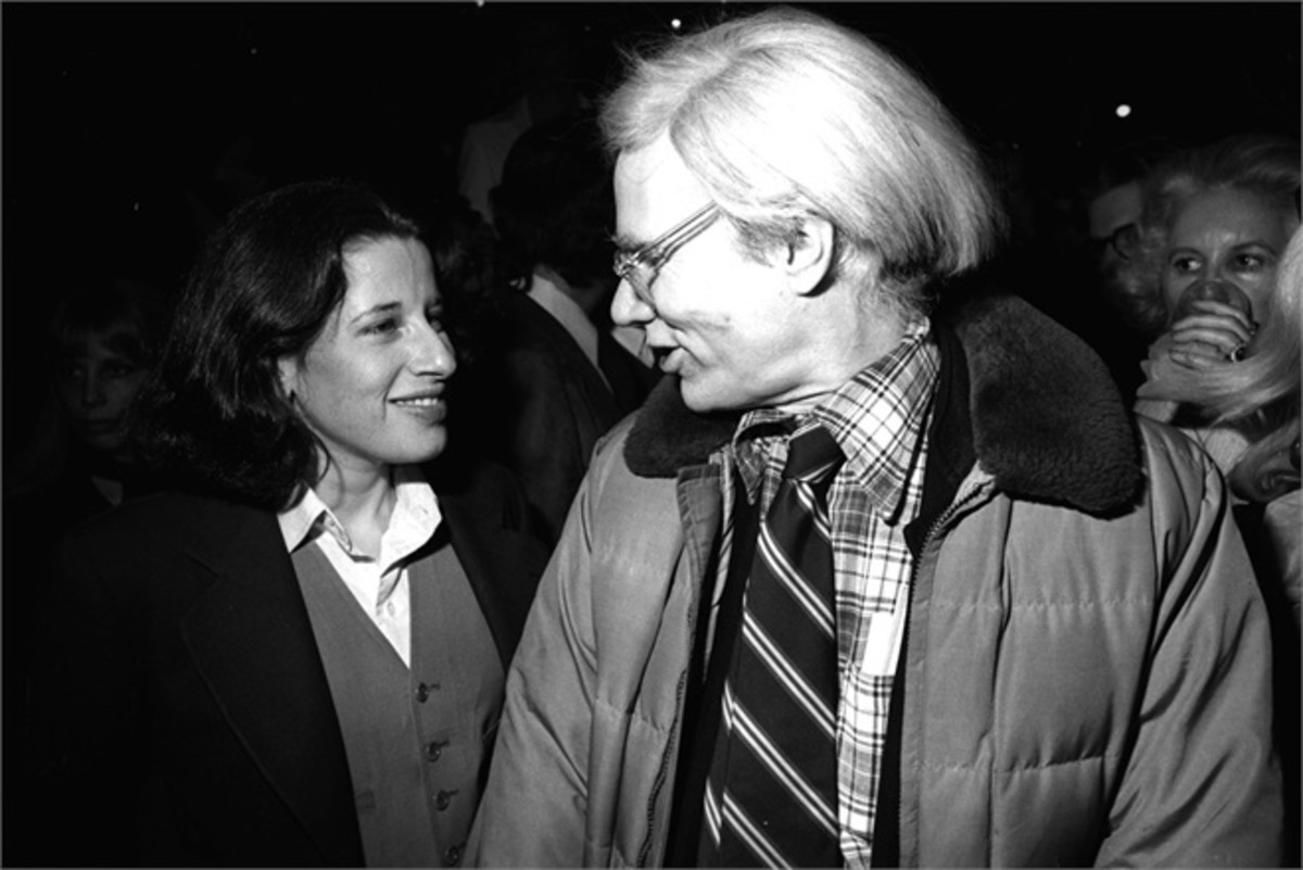 Young Fran Lebowitz with Andy Warhol