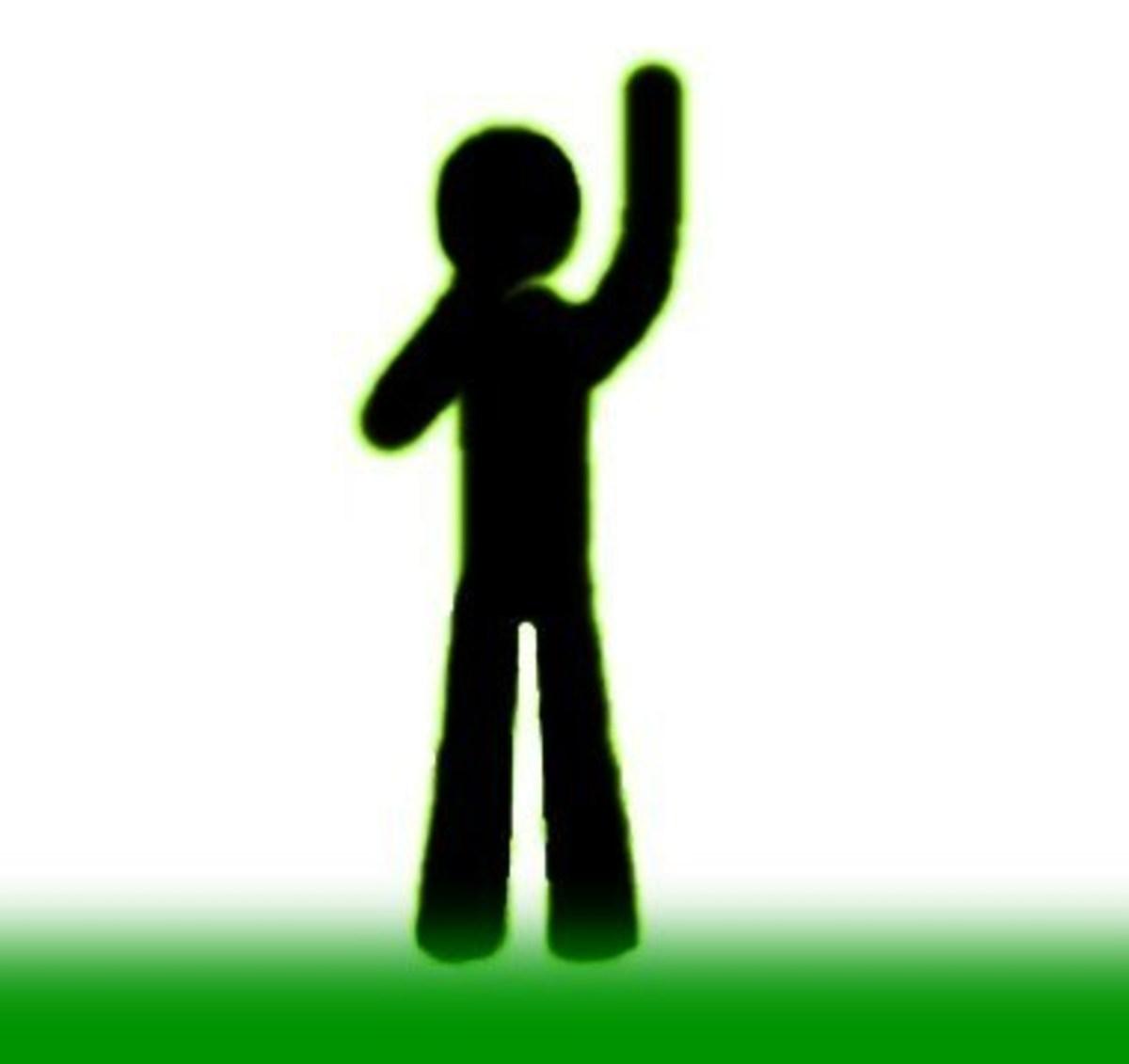 Raising One Hand–Indirect Free Kick, Start/Stop Time