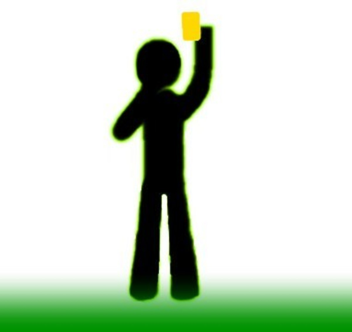 Showing Yellow Card–Warning