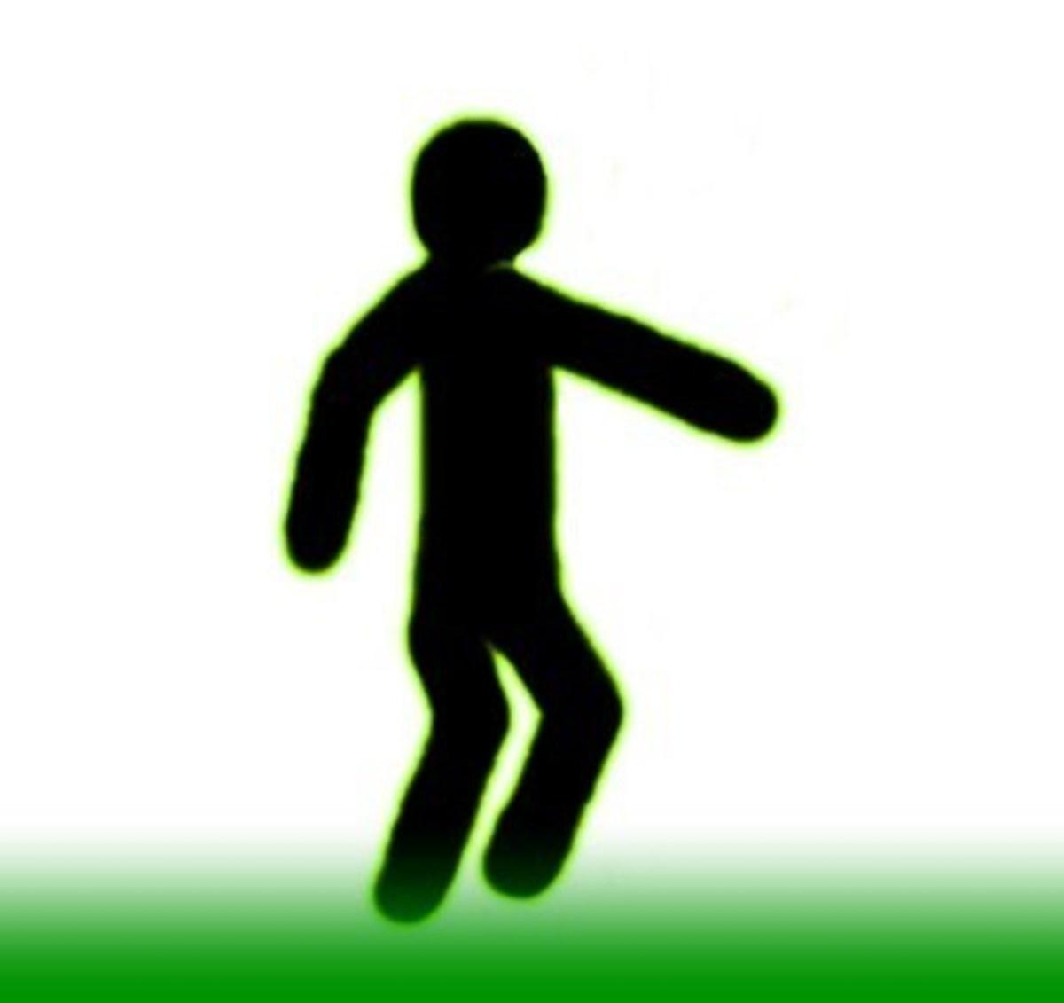 Pointing Downwards Towards Goal Area–Penalty Kick/Goal Kick