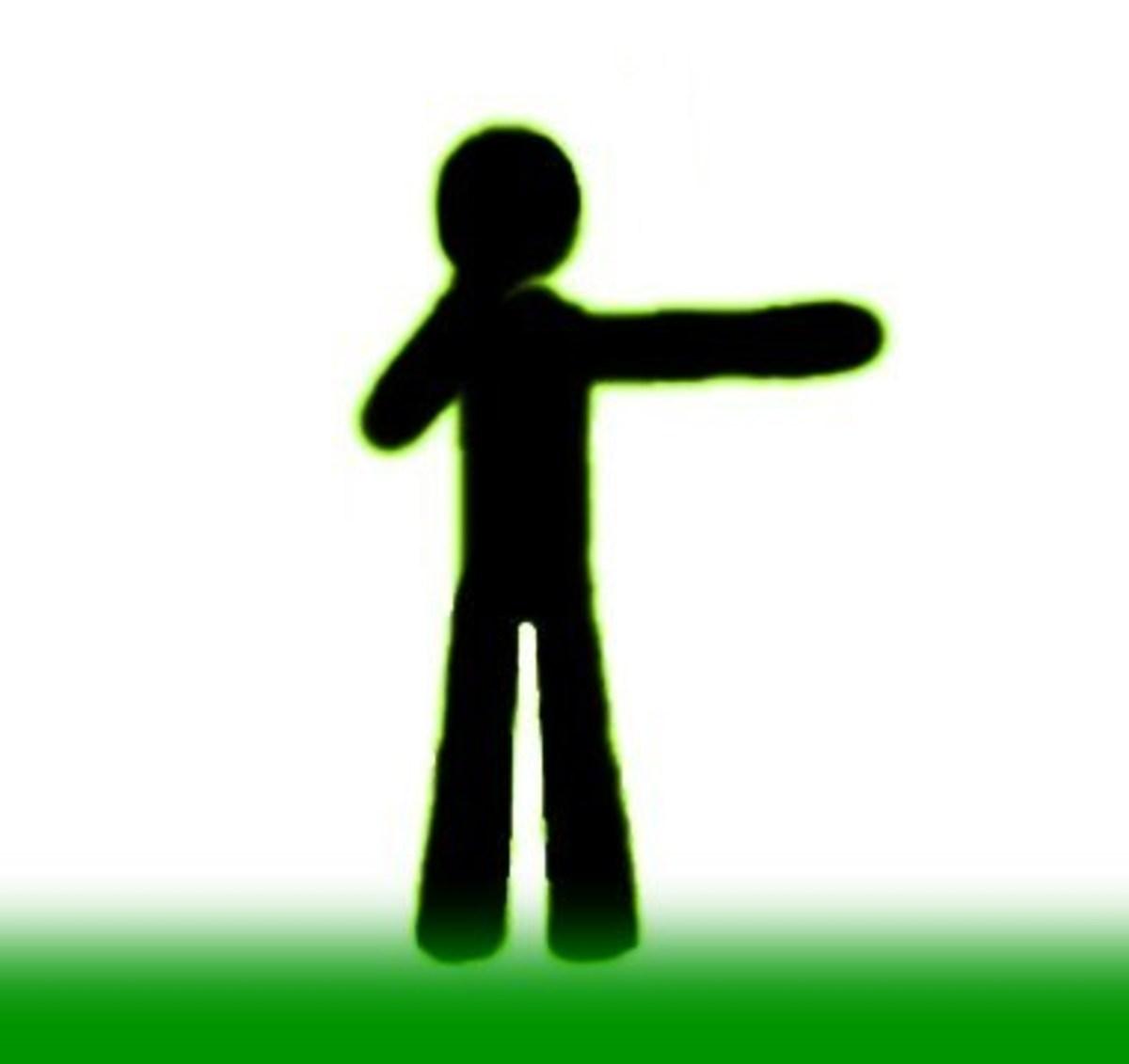 Hand Horizontal and Pointing Forward–Direct Free Kick/New Start