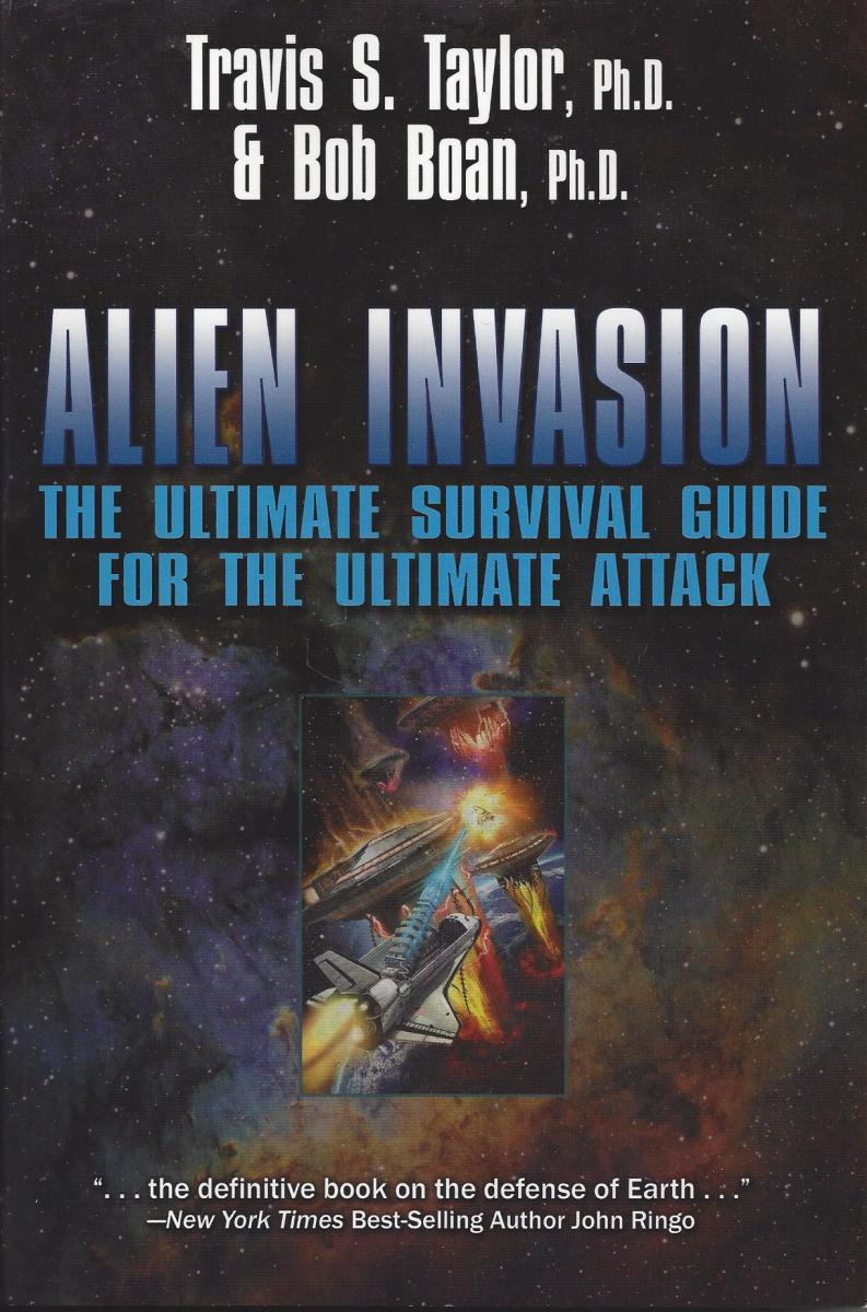 "The cover of ""Alien Invasion"" by Taylor and Boan"
