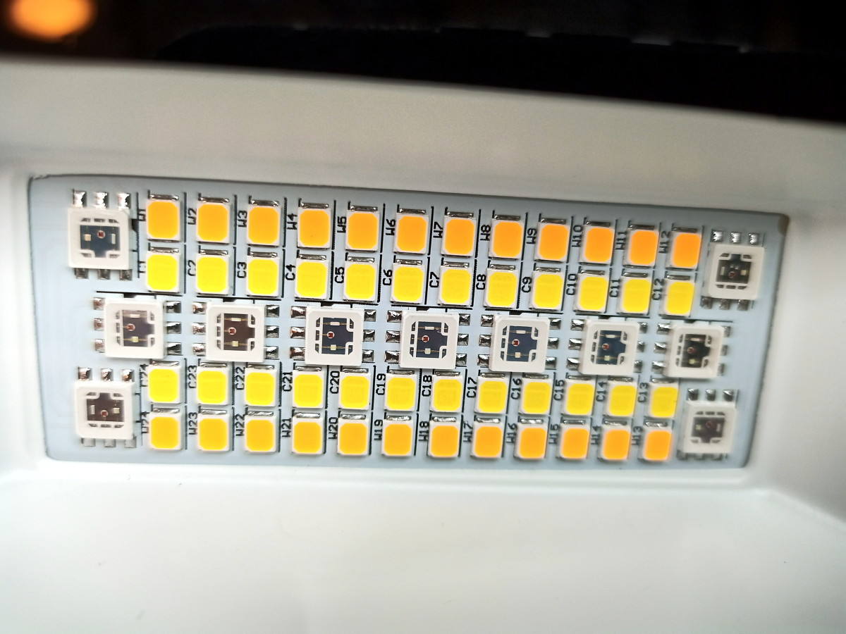 LEDs provide light and color