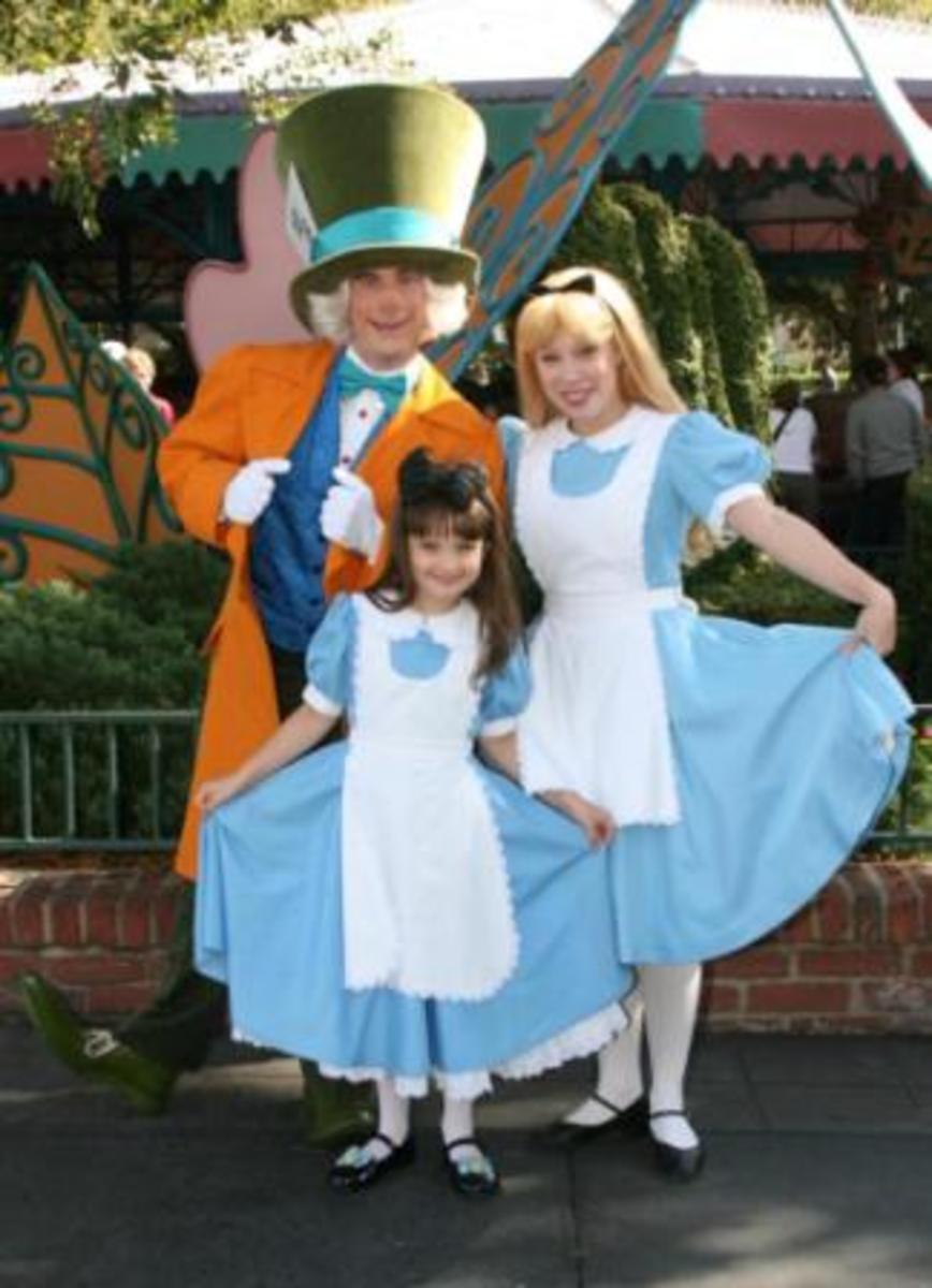 Alice in Wonderland and the Mad Hatter.