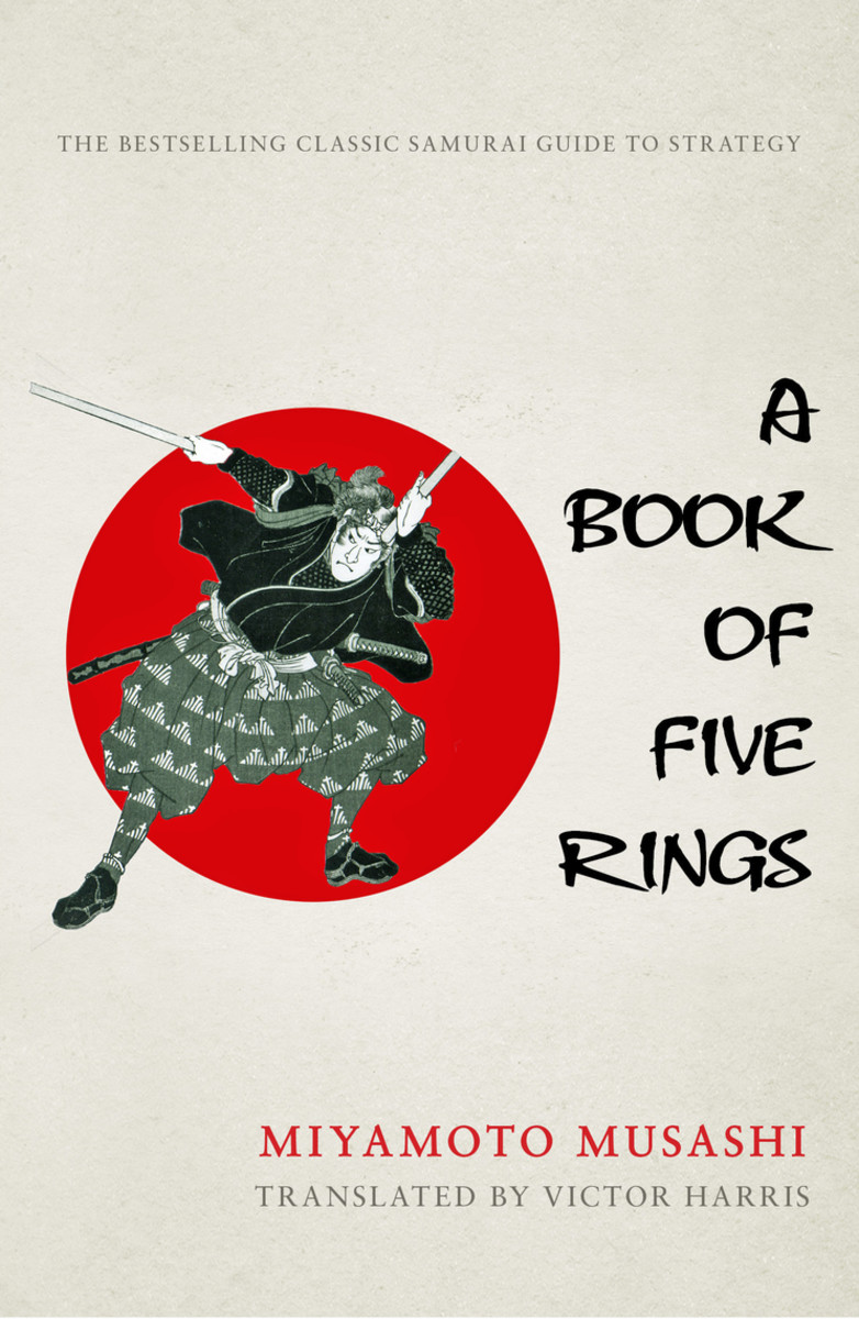 Book of Five Rings was written by arguably Japan's greatest swordsman, Miyamoto Musashi. While he doesn't go into any great detail about specific techniques, he does greatly expound on what a warrior's mindset should be.