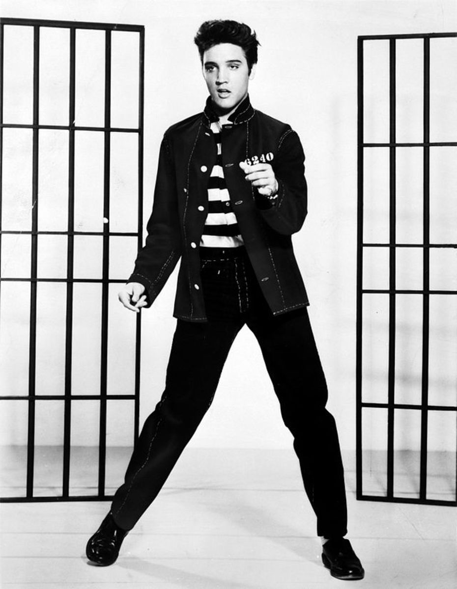 Elvis Presley in the 1957 film Jailhouse Rock
