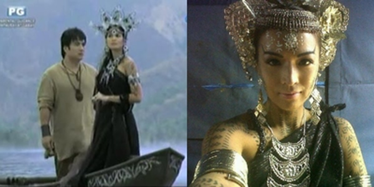 Magwayen appeared as a character in TV shows played by Izabel Daza in Indio and Aubrey Miles in Amaya