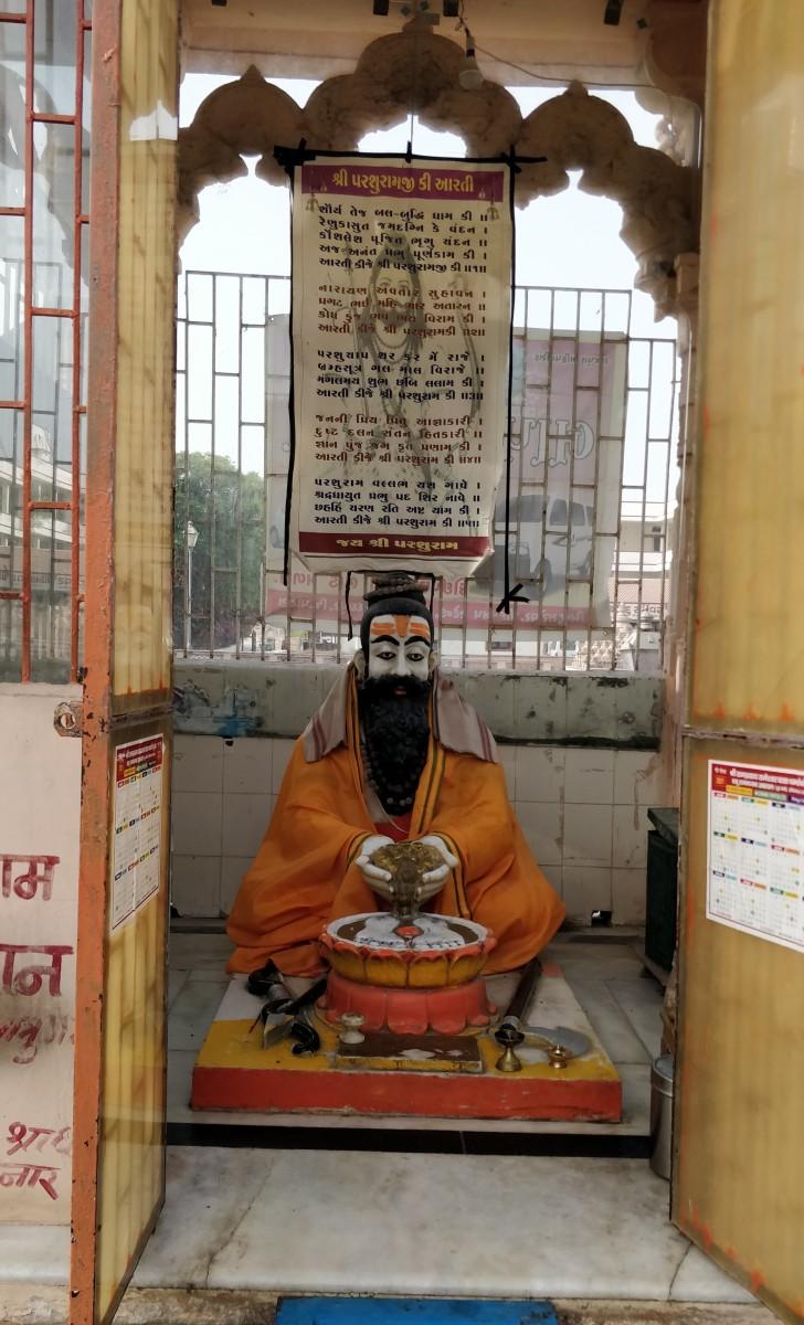 Parashurama in a shrine at Bindu Sarovar