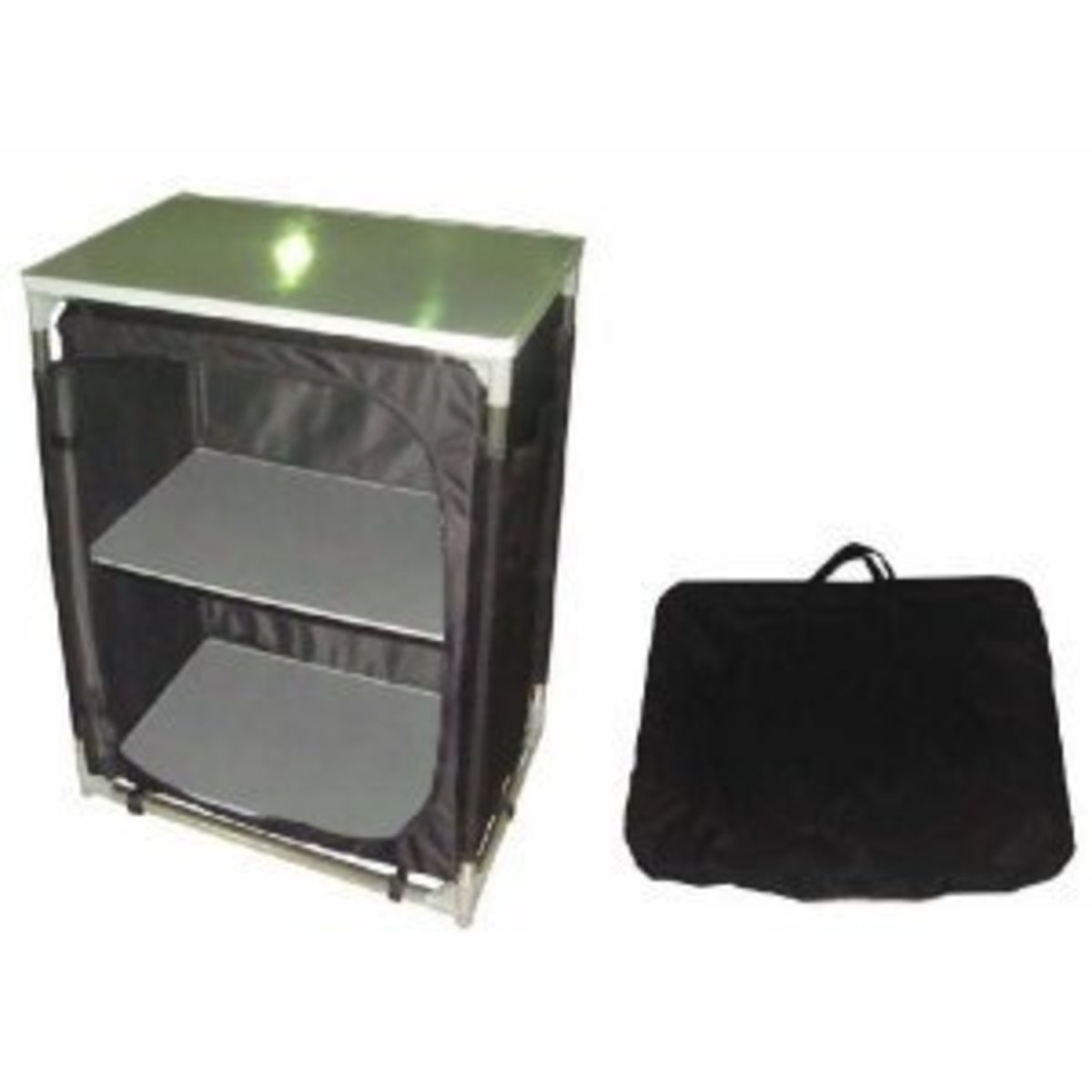 Aluminum 2 Shelf Camping Cupboard/Tabal/Storage/TA-8113 With FREE FOOD COVER