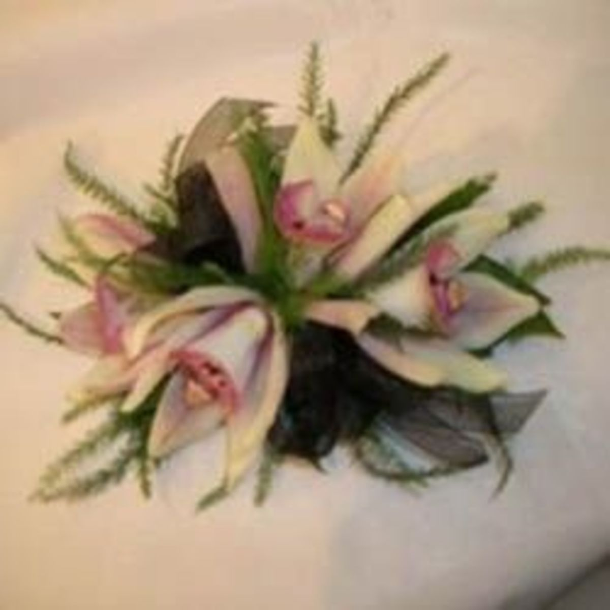 Large orchid cluster corsage