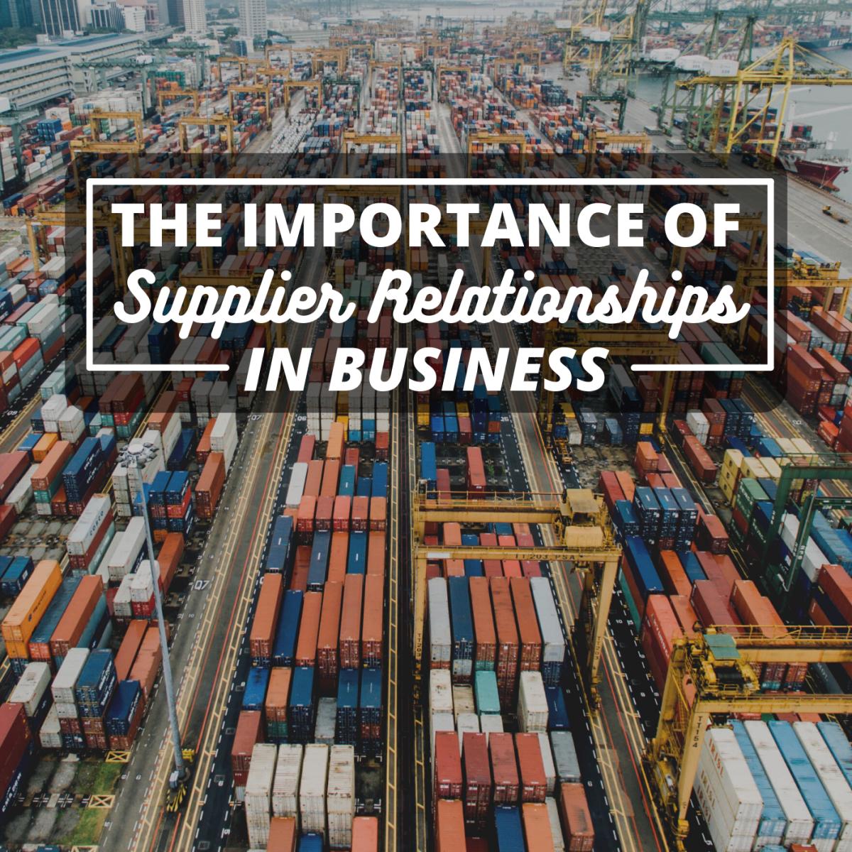 与供应商保持互利关系是良好业务的关键之一。