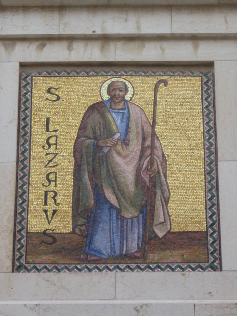 a picture of St. Lazarus from Lanarka, Cyprus