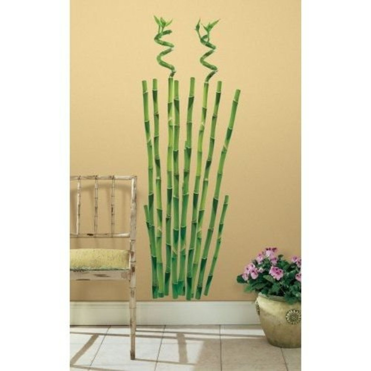 Bamboo wall stencils