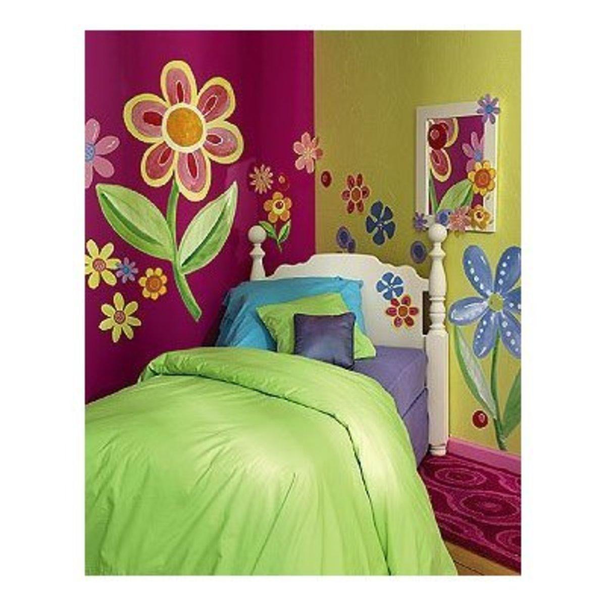 kids wall stencil decal