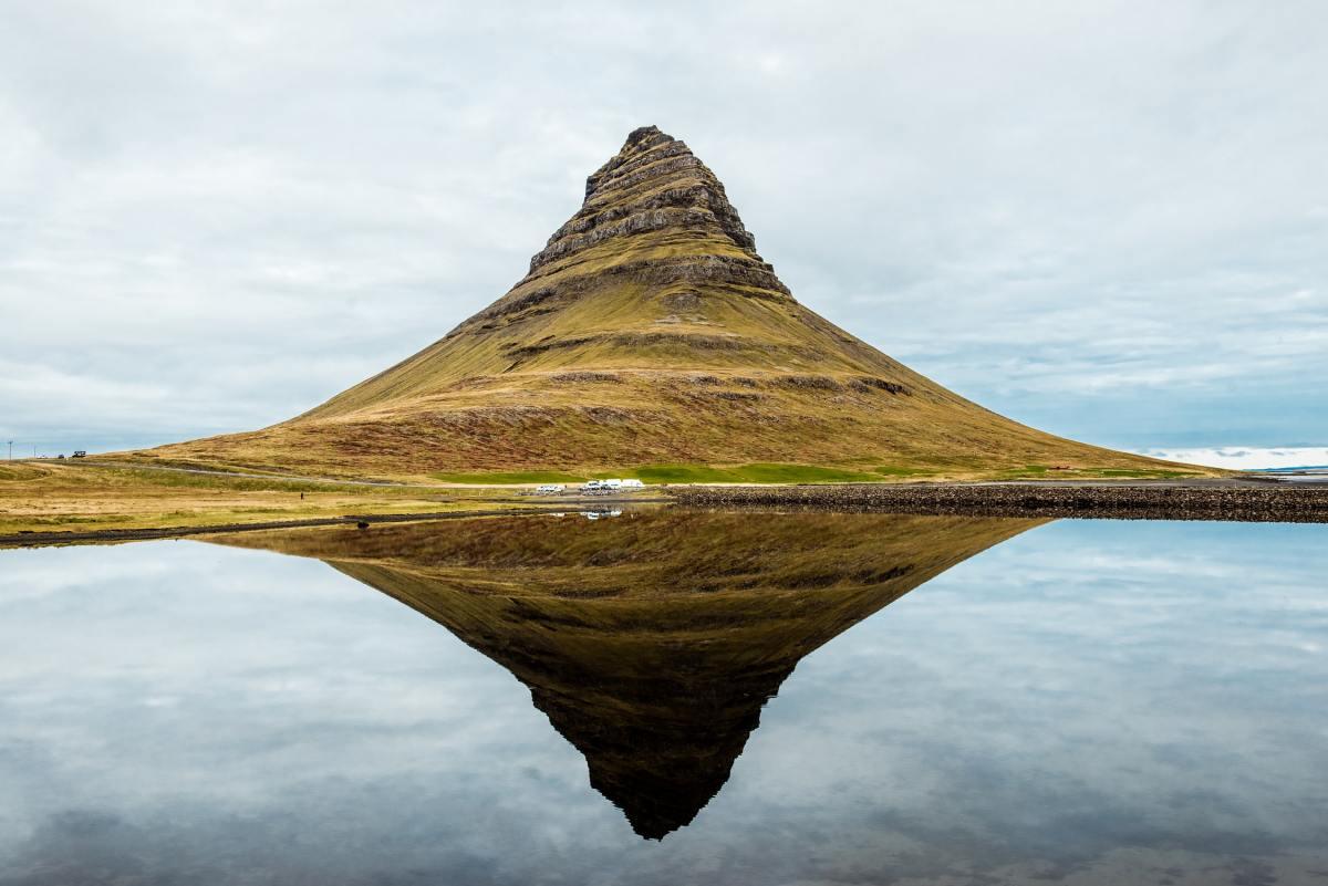Kirkjufell mountain. Photo by Ivars Krutainis via Unsplash.