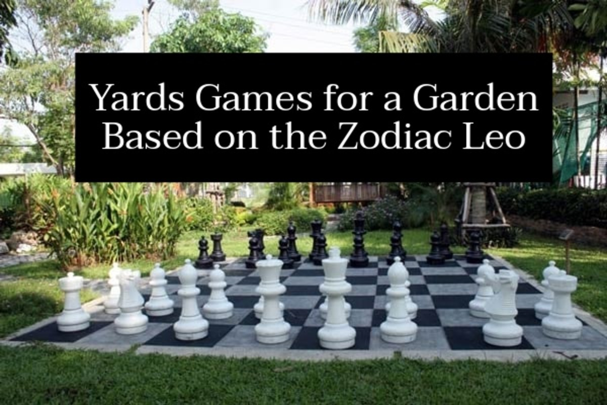Yard games are essential for a garden based around Leo. The fifth sign of the Zodiac wants people to feel welcome around them. They want to lure them in with games and excitements.
