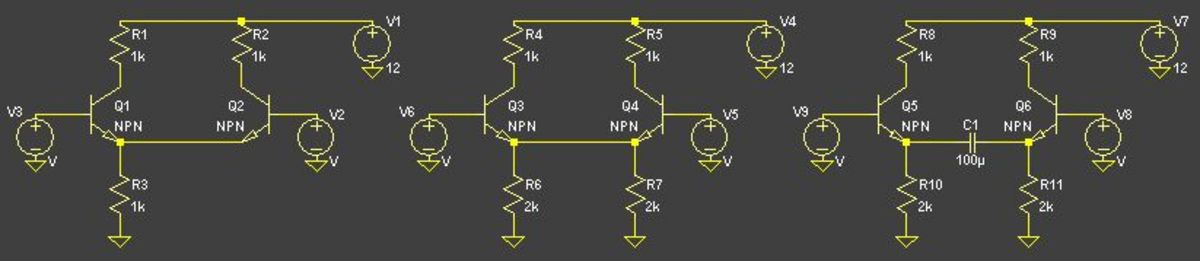 Transforming a standard DC linked differential pair into an AC linked differential pair.  The AC linked version of the differential pair is very tolerant of transistor mismatches.