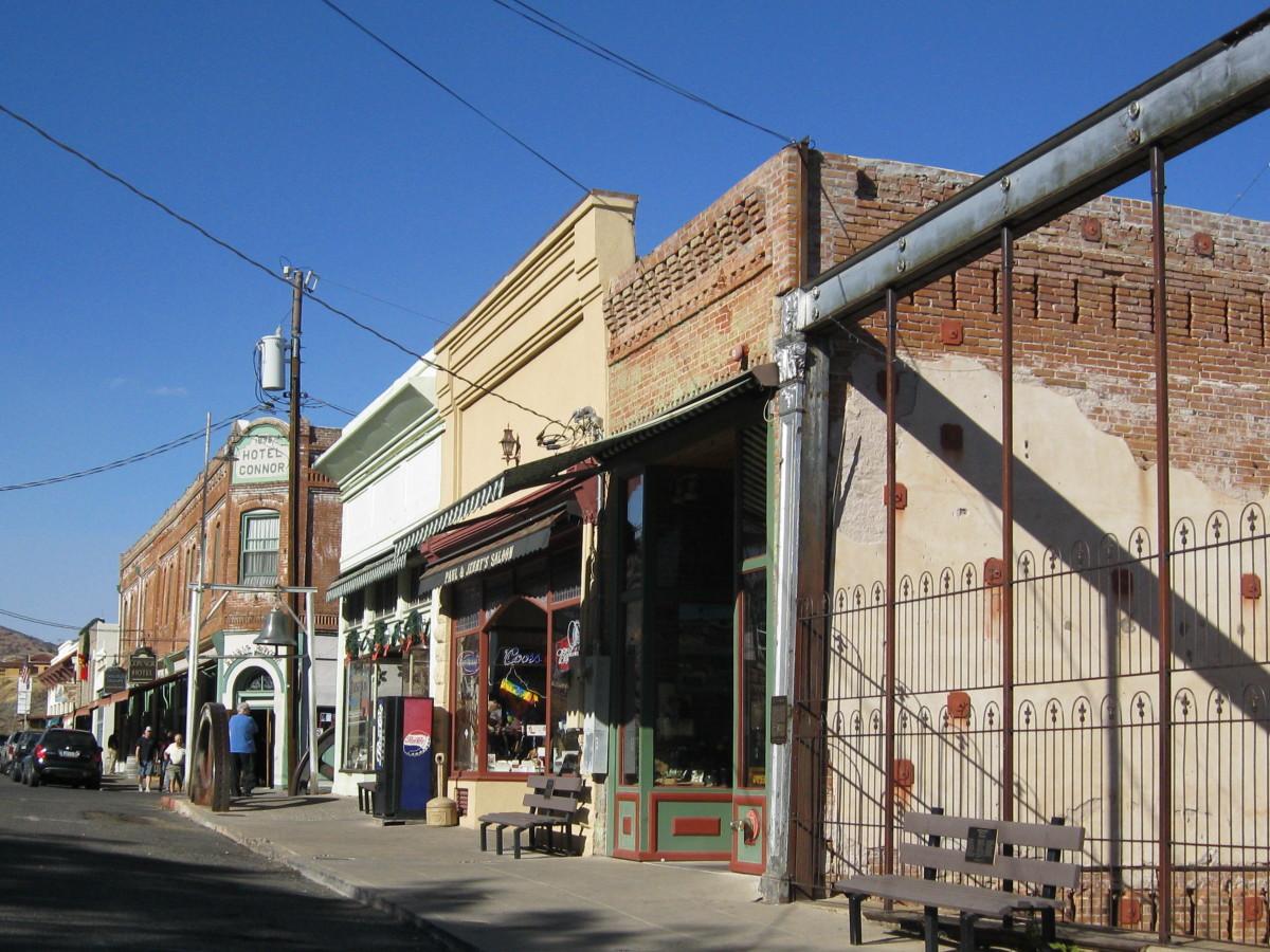 Main street along Historic 89A in Jerome Arizona