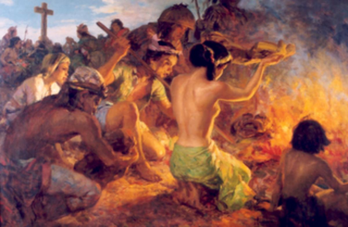 The Burning of the Idols by Fernando Amorsolo