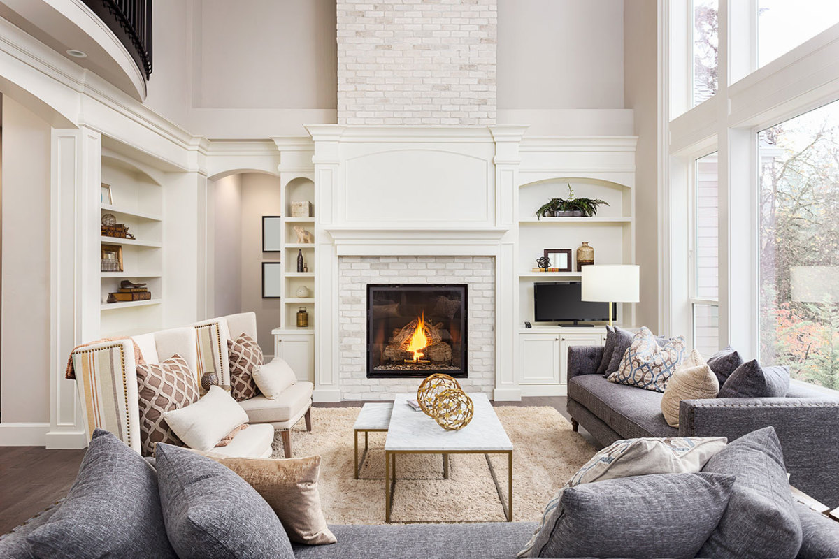 The living room that's design trends and has decorating beautiful in the home.