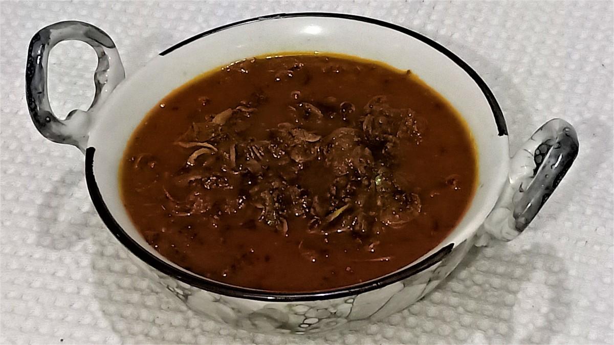 Sun-dried mushroom curry