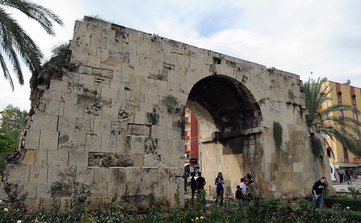 Cleopatra's Gate in Tarsos (now Tarsus, Mersin, Turkey), the site where she met Mark Antony in 41 BC
