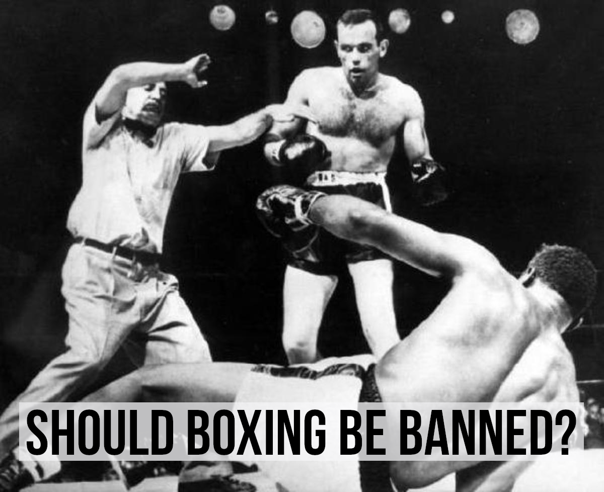 Ingemar Johansson and Floyd Pattersson 1959.  For a list of arguments for and against banning boxing, please read on...