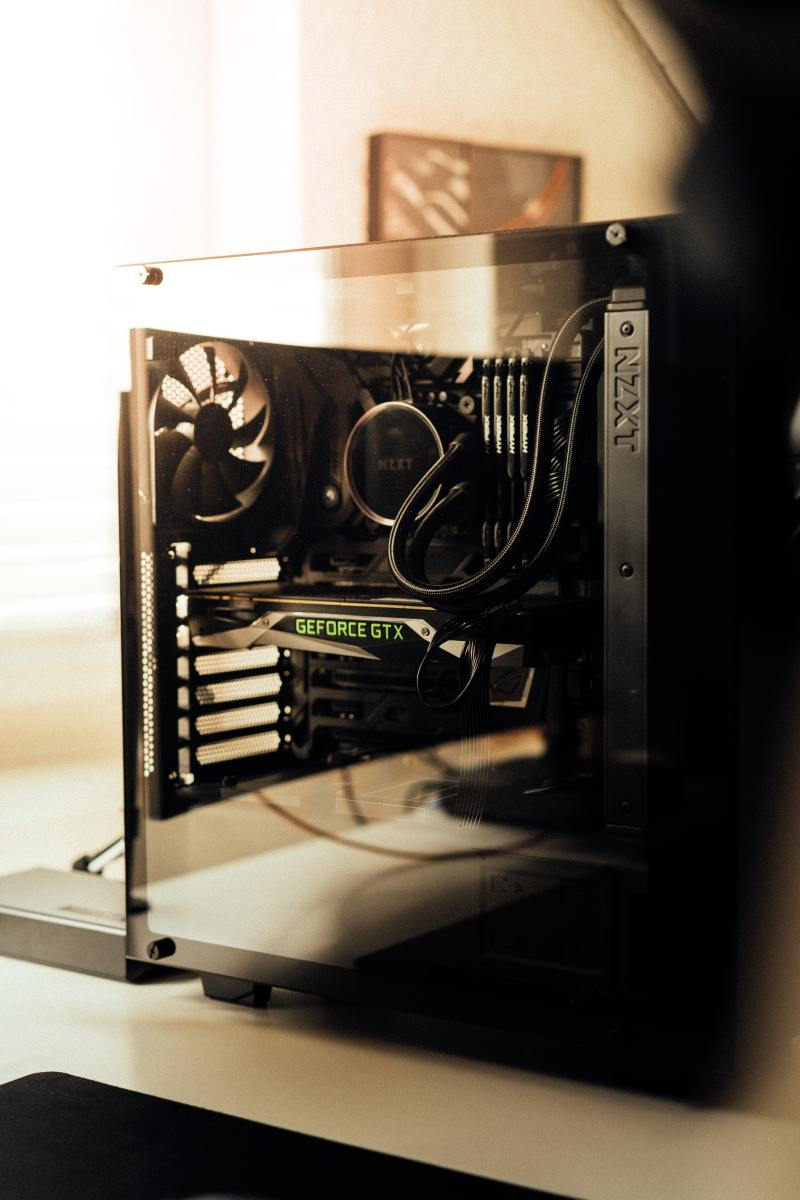 A pre-built gaming PC.