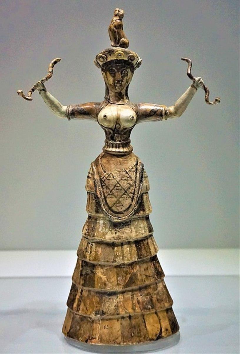 Snake goddess of Crete
