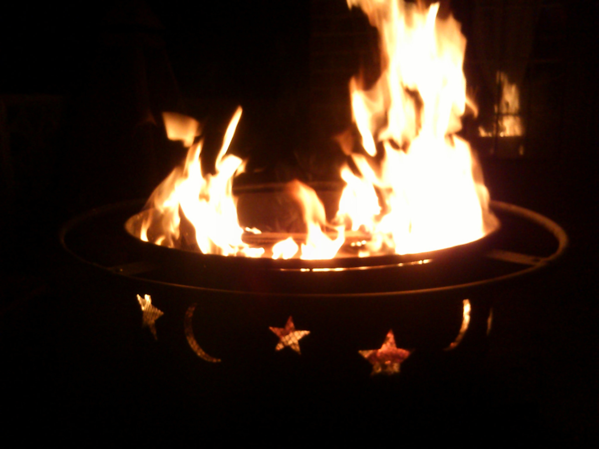 Fire pits can be used as a smaller and safer alternative to bonfires in Beltane celebrations.