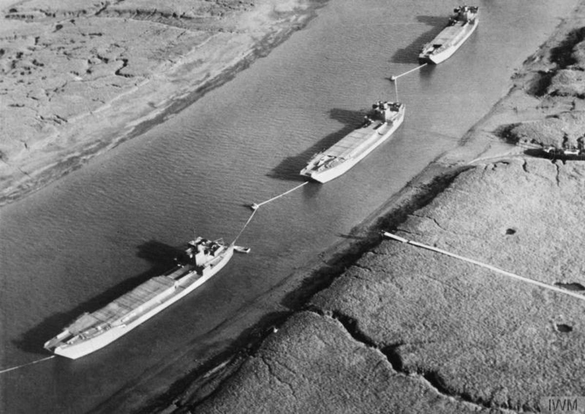 Dummy landing craft part of Operation Fortitude 1944.