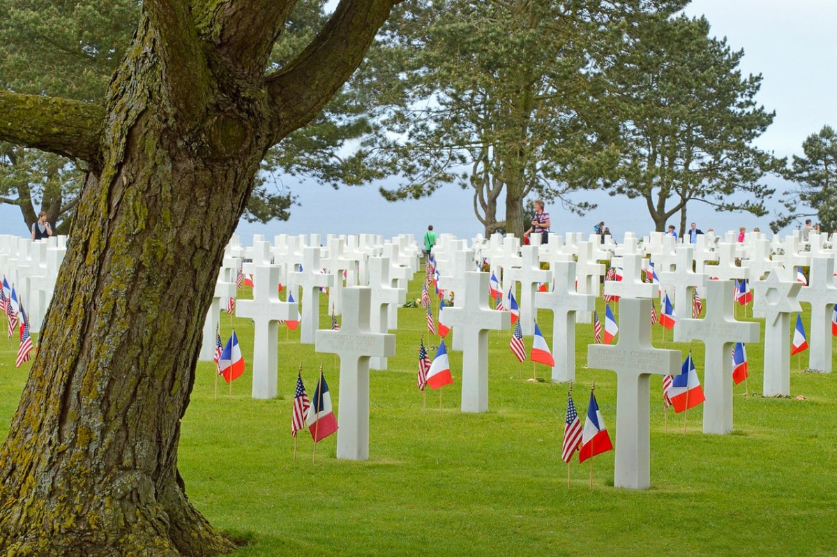 The Normandy American Cemetery overlooking Omaha Beach 2012 paying tribute to the troops who paid the ultimate price to take Omaha Beach.