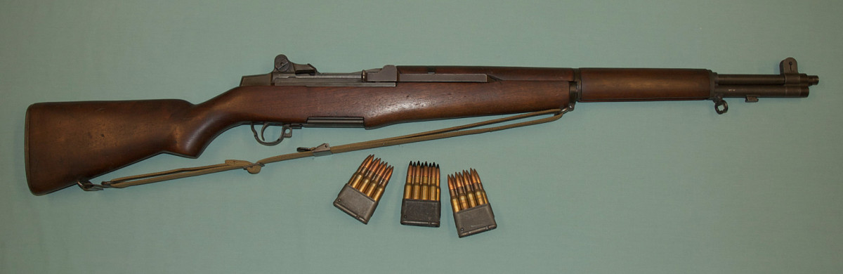 M1 Garand was a semi-automatic rifle most American troops carried on D-Day. Its 30-06 caliber bullets proved devastating to enemy soldiers.