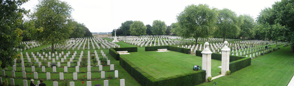 The Bény-sur-Mer Canadian War Cemetery near the beaches of Normandy 70 years after the battle.
