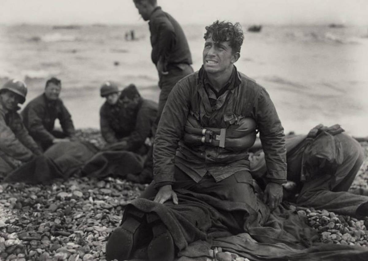 An American Medic on Omaha Beach.