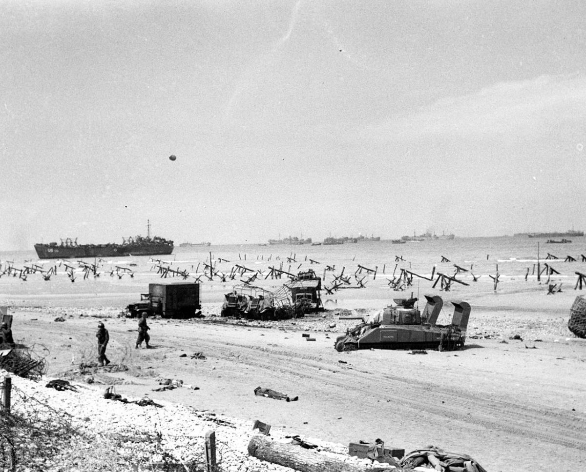 Omaha on the afternoon of D-Day once the German resistance had been silenced.
