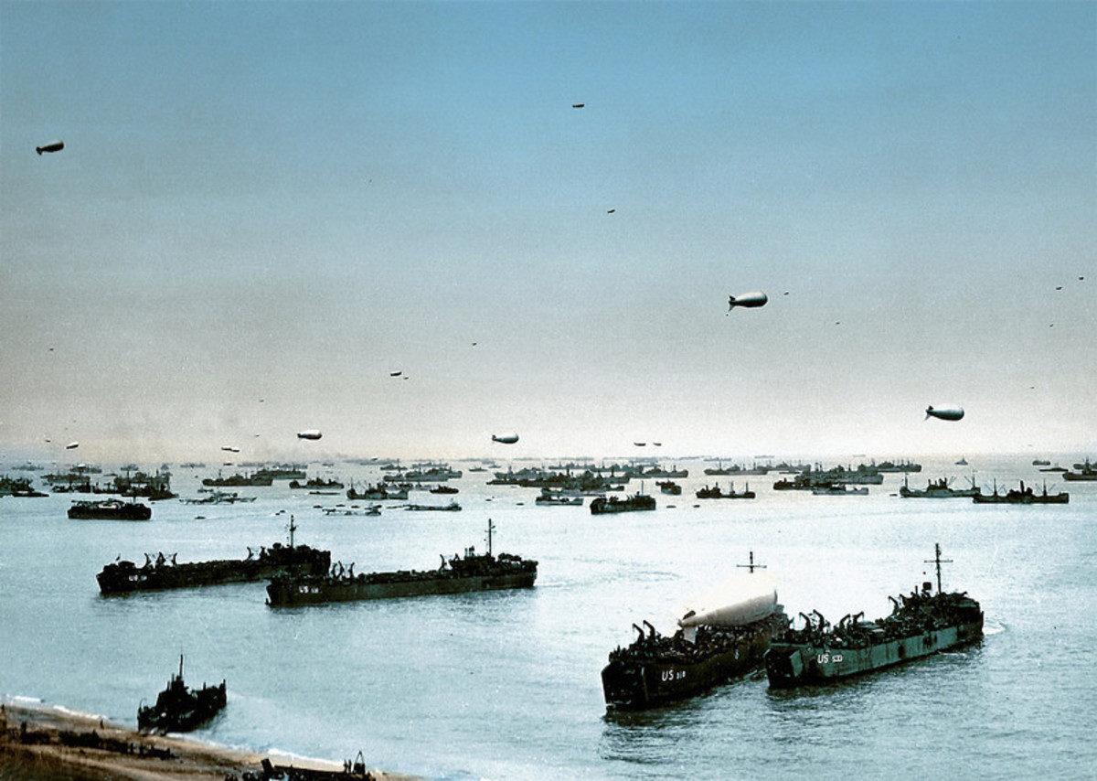 The colossal Allied armada off Normandy D+1 unloading even more reinforcements.
