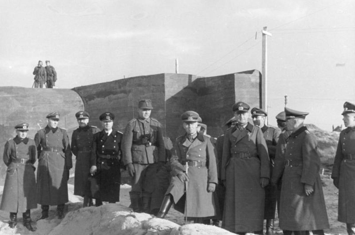 Field Marshal Erwin Rommel inspects the Atlantic Wall in 1943. Rommel knew the only way to stop the Allied invasion was on the beaches.