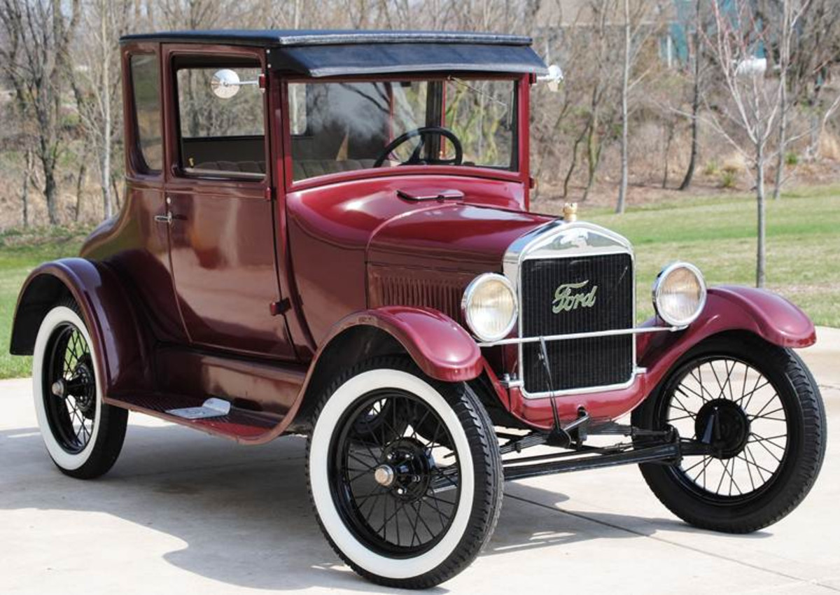 Model T Ford. One of the first examples of using the principles of Scientific Management for large industrial production techniques.