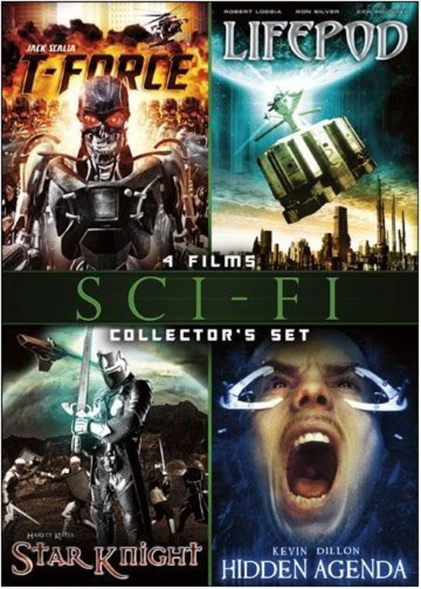 "The cover of this DVD collection promises ""Terminator"" style exo-skeletons in ""T-Force."" They lied."